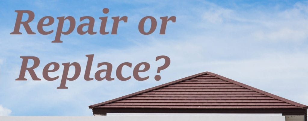 roof repair or roof replacement